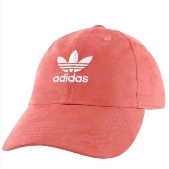NWT Adidas Originals Suede Hat Pink salmon rust 756c4582978